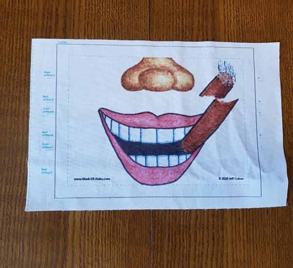 Cigar Smile Mask-ER-Aides Design